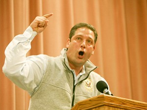 U.S. Rep. Tim Ryan of Niles, D-17th, said Republicans have an agenda to break up and beat down state unions.