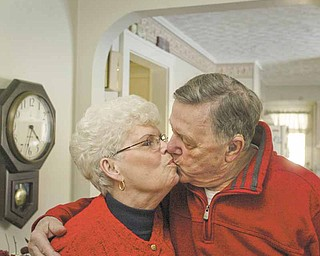 Harold and Margaret Pitts, married for 44 years, are shown in their Girard home.
