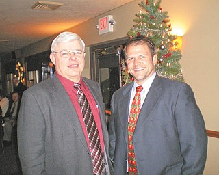 Prepared to serve as officers of Mercer County Chiropractic Society for 2011 are, from left, Dr. Richard Davis, president, and Dr, Ryan Snyder, vice president.