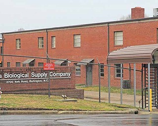 Carolina Biological Supply Company in Burlington, N.C. is shown in this Thursday, Feb. 24, 2011 photo. A young college student from Saudi Arabia who studied chemical engineering in Texas purchased explosive chemicals over the Internet as part of a plan to hide bomb materials inside dolls and baby carriages to blow up dams, nuclear plants or the Dallas home of former President George W. Bush, the Justice Department said Thursday. One of the chemical companies, Carolina Biological Supply, reported suspicious purchases by Khalid Ali-M Aldawsari, 20, of Lubbock, Texas, to the FBI on Feb. 1. (AP Photo/Gerry Broome)