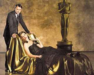 "THE 83RD ACADEMY AWARDS¨ - James Franco (left) and Anne Hathaway (right)  will serve as co-hosts of the 83rd Academy Awards, Oscars telecast. Academy Awards for outstanding film achievements of 2010 will be presented on Sunday, February 27, 2011, at the Kodak Theatre at Hollywood & Highland Center, and televised live as ""The 83rd Annual Academy Awards"" on the ABC Television Network."