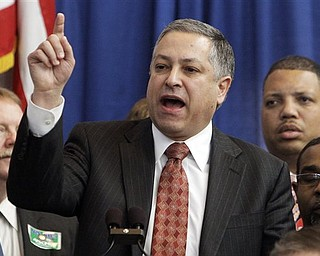House Minority Leader Armond Budish delivers the Democrat's response to Ohio Gov. John Kasich's State of the State address Tuesday, March 8, 2011, in Columbus, Ohio.