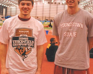 Aaron Hartsough competed in the Horizon League Indoor Track & Field Championships. Photo sent in by Lana Van Auker of Canfield.