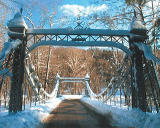 Lana Van Auker of Canfield sent in this majestic shot of the Silver Bridge at Mill Creek. Early spring? Bah!