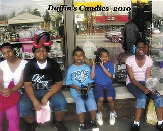 Gloria Neely-Tucker sent in this photo after taking her daughter and grandchildren on an outing to see Easter decorations at Kraynak's in Sharon, Pa., and Daffin's Candy. From left are daughter Antoinette Tucker, grandson Michael Winford, twins Devon and Devin Winford and granddaughter O'shae Ross. They're all from Youngstown.