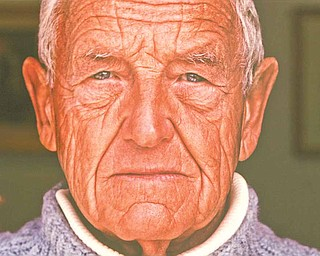 A portrait of Andrew Wyeth by Peter Ralston. Ralston gave the portrait, which was signed by Wyeth and himself, to The Butler in 2010.
