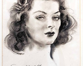 """""""Gayle Mellott,"""" a charcoal drawing by James Montgomery Flagg."""