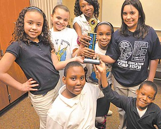 """Members of Taft Elementary School's Destination Imagination team won first place in their age group at the regional competition last month at Youngstown State University. The team competed in a category called """"Verses! Foiled Again."""""""