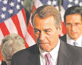 House Speaker John Boehner of Ohio, announces that an agreement to avert a government shutdown was reached at the U.S. Capitol in Washington, on Friday, April 8, 2011.