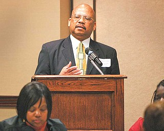 Youngstown Police Detective Sgt. David Lomax was keynote speaker for Help Hotline Crisis Center's Victims' Assistance Programs annual luncheon to honor victims of crime. Lomax is a member of YPD's Family Services Investigative Unit.