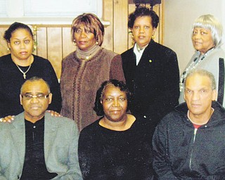 Plans for a memorial scholarship luncheon on Saturday have been completed by members of the Youngstown-Warren Realtist Association, seated, from left, Truman Greene. president; Antoinette Smith and Calvin Williamson; and standing, Donna James; Shirley Poindexter; Linda Booker, program chairwoman; and Gwen Bush.