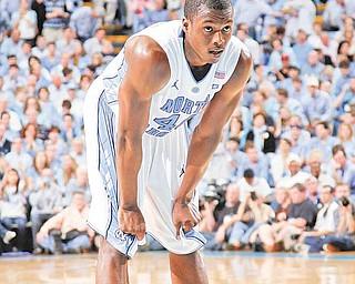 North Carolina forward Harrison Barnes (40) waits during the second half of an NCAA college basketball game against Duke in Chapel Hill, N.C., Saturday, March 5, 2011.  North Carolina down Duke 81-67.