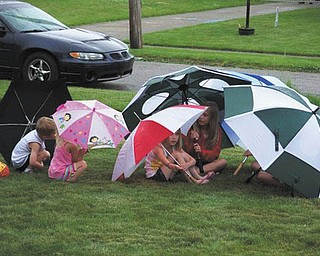 A rainy Memorial Day picnic last year at Diane Brookbank's house in Girard didn't dampen the spirits of these creative guests.