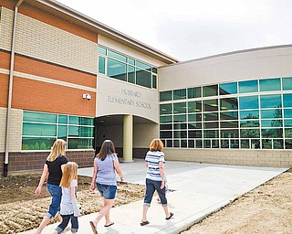 The new Hubbard Elementary School will hold pre-kindergarten through fourth grades. Beginning this fall, the elementary, middle and high schools will be located on one campus.