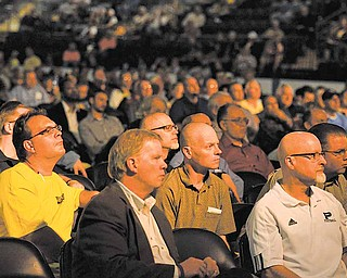 Some 3,200 men took part in the second annual Men's Rally in the Valley Saturday at the Covelli Centre, downtown Youngstown.