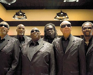 In this July 22, 2010 publicity photo released by Saguaro Road Records, the Blind Boys of Alabama, from left, Ben Moore, Ricky McKinnie, Billy Bowers, Tracy Pierce, Jimmy Carter and Joey Williams are shown at Javelina Studio in Nashville, Tenn.