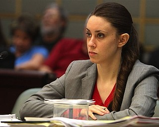FILE - In this March 3, 2011 file photo, Casey Anthony, 24, listens to testimony during the last day of hearings on a series of motions by the defense and the prosecution during her murder trial, in Orlando, Fla. The trial of Casey Anthony, accused of killing her 2-year-old daughter almost three years ago, is set to begin in Florida Monday, May 9, 2011, amid great media hype.