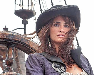 """In this film publicity image released by Disney, Penelope Cruz portrays Angelica in a scene from, """"Pirates of the Caribbean: On Stranger Tides."""""""