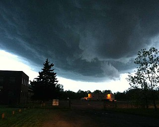 A spiraling cloud formation was spotted just before 9 p.m. along state Route 169 in Niles.
