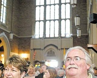 Jim and Chris Hay of Boardman were among the spectators at Tuesday centennial celebration.