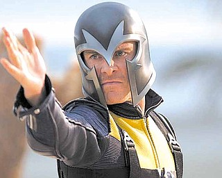 Michael Fassbender potrays Erik Lehnsherr, who has the power to control magnetism, in 'X-Men: First Class.'