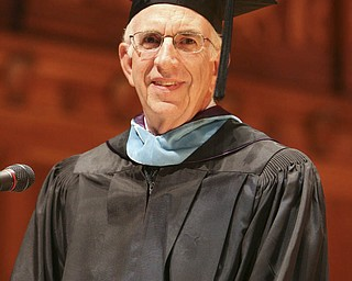 ROBERT  K.  YOSAY  | THE VINDICATOR --..Speaker was recently retired   Mr James M Cooney   -Cardinal Mooney's 53 Annual Commencement  at Stambaugh Auditorium . -30-..(AP Photo/The Vindicator, Robert K. Yosay)