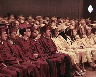 ROBERT  K.  YOSAY  | THE VINDICATOR --..Cardinal Mooney's 53 Annual Commencement  at Stambaugh Auditorium . -30-..(AP Photo/The Vindicator, Robert K. Yosay)
