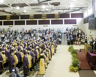 William D. Lewis The Vindicator South Range HS class of 2011 during commencement Saturday at the HS.