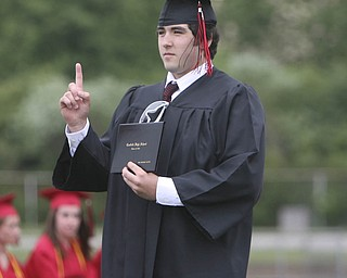 ROBERT  K.  YOSAY  | THE VINDICATOR --..Canfield High School 2011 graduation at the Stadium - .. -30-..(AP Photo/The Vindicator, Robert K. Yosay)