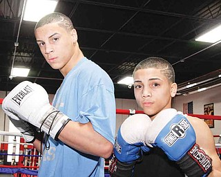 Juan Salinas and his older younger brother Alejandro Salinas at Southside Boxing Club in 2009