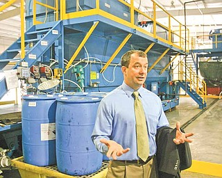 Andrew Blocksom, president of Patriot Water Treatment in Warren, invited state legislators to the plant Monday to demonstrate how the 6-month-old company treats wastewater.