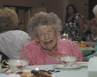 Dorothy Soles, who will be 93 in August, used the occasion of Trinity United Methodist Women's English Tea on June 9 as an opportunity to arrange a face-to-face meeting after 20-plus years of telephone rapport with The Vindicator's Society Department.