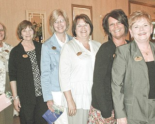 From left to right are Lynn Romeo, Patricia Ross, Denise Altman, Patricia Cearfoss, Suzette Gibbs and Sue Urmson, who were installed recently as officers for the 2011-2012 term of the Yo-Mah-O Chapter of the International Association of Administrative Professionals.