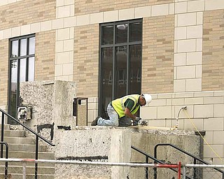 Two major projects began in April and are expected to take six months to complete at the building.