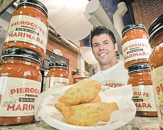 Frank Gazella Jr. is co-founder of Pieroguys Pierogies at the City Market in Kansas City, Missouri. The business, a wholesale pierogies manufacturer, has opened a cafe and is now selling it's own pieroguy sauces in bottles. (David Pulliam/Kansas City Star/MCT)