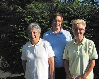 Proud survivors: The annual Pink Ribbon Golf Classic will take place July 18 at Trumbull Country Club. All proceeds will go to the American Cancer Society. The cost is $99 per person for the 18-hole scramble. Registration begins at 8:30 a.m. with a shotgun start at 9:30. Lunch is included, along with a basket auction and raffle. For more details contact Donna Mowrey at 330-207-9630 or Nancy Felton at 330-533-2712. Jinny Johnston, at left, is this year's cancer survivor to be honored by the American Cancer Society. In the center and at right are cancer survivor honorees Mowrey and Diane Reha.