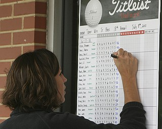 ROBERT K. YOSAY | THE VINDICATOR..The Second Round of qualifiers for the  Best Jr. Golfer was held at Tamer Win in Cortland on Friday morning - .. ...-30-