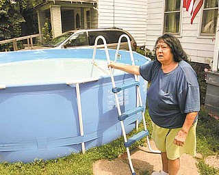 Florence Steiner purchased a pool for her Wick Avenue home in July. She has lived at the address for 50 years and has had a pool in her front yard many of those years. The Youngstown Zoning Department is making sure those with pools get the proper permits and follow zoning regulations.