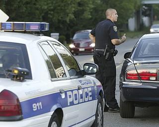 William D. Lewis The Vindicator   Boardman PD PTLM John Gocala makes a traffic stop while patrolling 7-6-11.