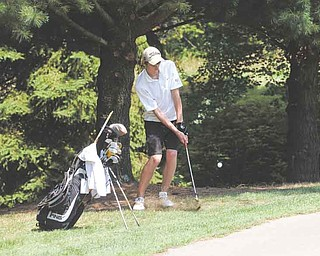 RAMI DAUD | THE VINDICATOR.Lucas Clarke plays during the Greatest Junior Golfer qualifier at Tam OÕ Shanter in Hermitage Thursday afternoon.