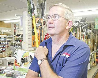 William d Lewis The Vindicator  Jack Crouse owner of Crouse Mills True Value in North Lima in his store.