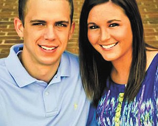 Adam Engstrom and Allison Brown