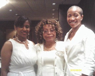 New members Stephanie Shaw, left, and Jennifer Roller, right, will be officially welcomed into membership at the Youngstown Chapter of Links' meeting in September. They are pictured with longtime member Dr. Joan Boyd.