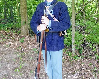 Dalton Boszé, a Canfield High School senior, likes to participate in Civil War re-enactments.