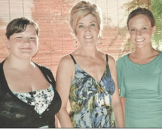 Trisha Sattler, left, of Beaver High School, and Lauren Ketterman, right, of Leetonia High School are this year's recipients of Columbiana Area Business and Professional Women's Club's scholarships. The graduates are pictured with CABPW President Lori Everly at the club's recent meeting.