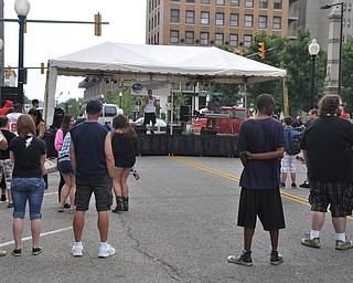 Jay Mel performs during VexFest 8 in downtown Youngstown on Sunday, August 14, 2011.