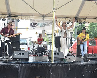 The Gary Markasky Projects performs on the Market Street Stage during VexFest 8 in downtown Youngstown on Sunday, August 14, 2011.