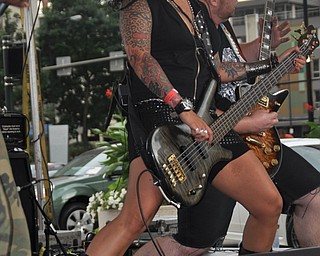 Brooklyn-based band Demolitia performs on the Market Street Stage during VexFest 8 in downtown Youngstown on Sunday, August 14, 2011.