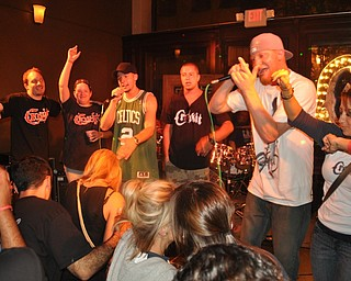 Local hip-hop group Crookit performs inside Old Precinct in downtown Youngstown during VexFest 8.