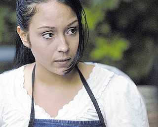 Sheyra Vazquez, an actress with Method 8 Corp. film company, rehearses before shooting at Pioneer Pavilion in Mill Creek MetroParks. Vazquez is playing Precious Peace, the main character in the film.